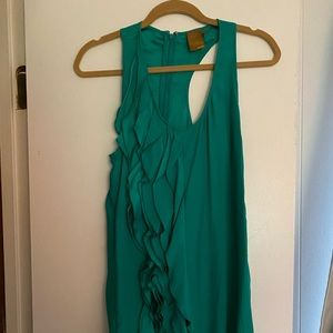 Ali Ro Green Sleeveless Dress Size 2